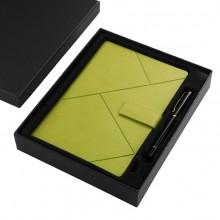高档日记本记事本定制 新款商务笔记本子 平装带扣笔记本套装
