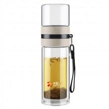 茶水分离杯双层玻璃杯