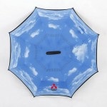 创意反向伞双层 可站立反转汽车晴雨伞 C型直杆可定制logo