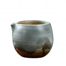 景德镇手工柴烧公道杯 复古手工杯子陶瓷个人杯 粗陶茶杯直供