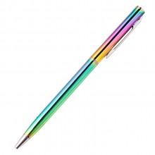 炫彩色潮流签字笔 金属材质顺滑圆珠笔 舒适手写办公文教签字笔
