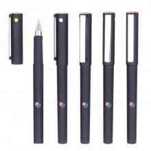 新款办公签字笔 磨砂喷胶水笔 广告礼品中性笔 可定制LOGO