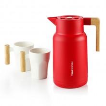 家用壶暖水瓶马克杯玻璃保温壶套装三件套可定制logo