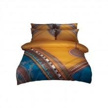 北欧风针织棉加厚磨毛四件套数码印花床上用品
