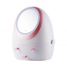 抽屉式化妆品收纳盒带LED镜子  可定制LOGO