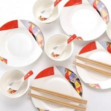 毕加索Dora中式餐具16头 24头A款P20-NT16A 碗筷勺碟