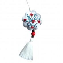 刺绣diy平安符香囊端午艾草荷包挂件护身福手工