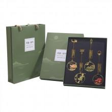新品中国风端午书签套装风雅端午纯铜纪念品可开模定制LOGO