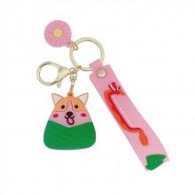 端午节粽子挂件汽车钥匙扣可开模定制LOGO