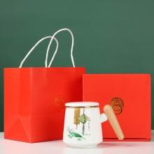 泡茶杯马克杯带盖定制大容量端午送礼品陶瓷过滤茶可定制LOGO