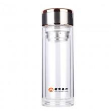 商务双层玻璃水杯招商银行定制案例