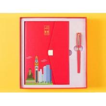 笔记本+笔商务套装 城市印象