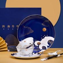 碗碟套装陶瓷家用碗盘西餐盘菜盘深盘水果盘碗单个筷餐具送人礼品