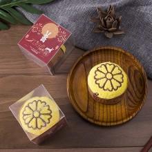 中秋节礼品蛋糕造型广告创意纯棉盒装月饼毛巾 可定制logo