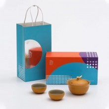 中秋创意礼品茶具定制陶瓷功夫泡茶器  一壶两杯