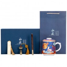 复古国风创意陶瓷杯子办公室 文创中秋礼品