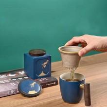 中秋茶具礼盒月来月好茶具办公杯茶叶罐礼盒套装 可定制logo