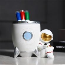 创意时尚北欧宇航员笔筒多功能桌面收纳盒可爱儿童卡通太空人摆件