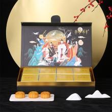 中秋礼盒新款月饼包装盒现货翻盖手提创意6粒8粒蛋黄酥包装礼品盒