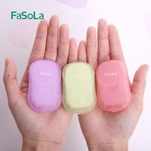 日本旅行便携式一次性肥皂片洗手皂纸片随身肥皂纸学生盒装香皂片