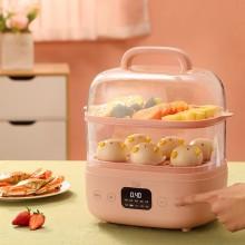 小浣熊多功能智能小型家用电蒸锅迷你双层蒸架大容量蒸菜早餐机