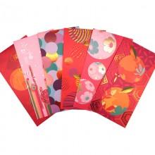 2022年新春红包袋利是封8个装  烫金工艺 可定制