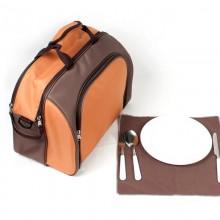 便携野餐包单肩餐包手提保温袋可冷藏