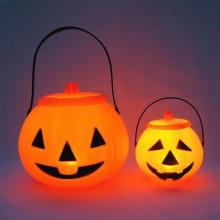 万圣节发光装饰塑料手提南瓜灯